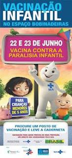 Vacinação contra paralisia infantil no Bangu Shopping