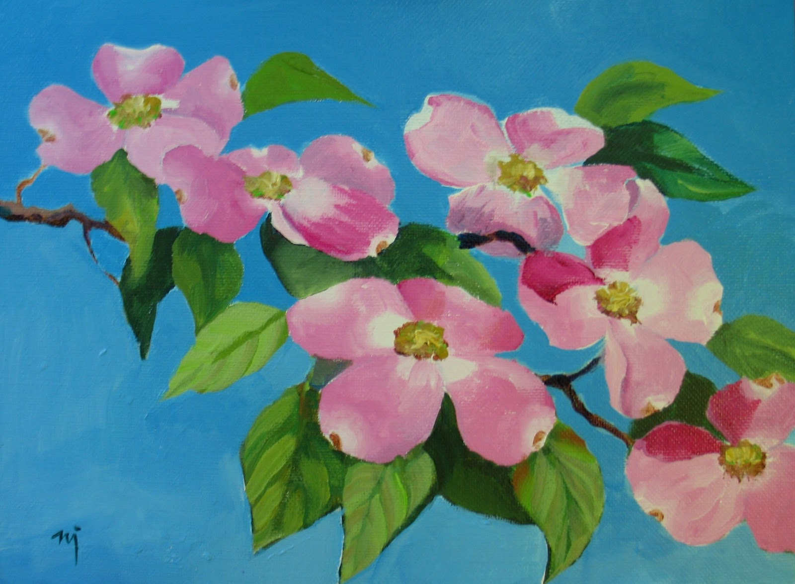 the gallery for gt dogwood painting