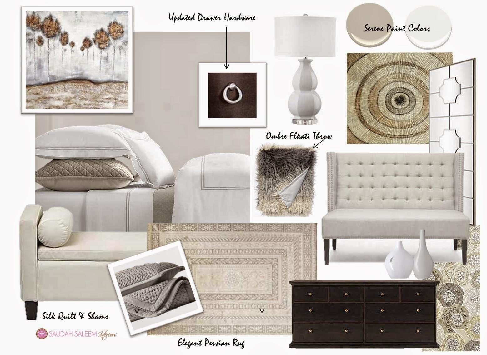 Neutral Master Bedroom Saudah Saleem Interiors A Restful Retreat Master Bedroom