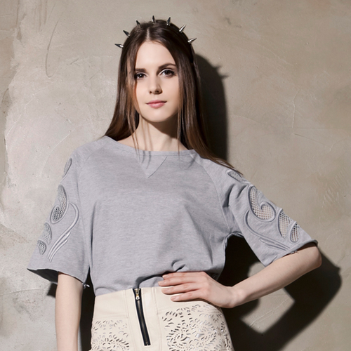 Baroque Cut Sleeved Top