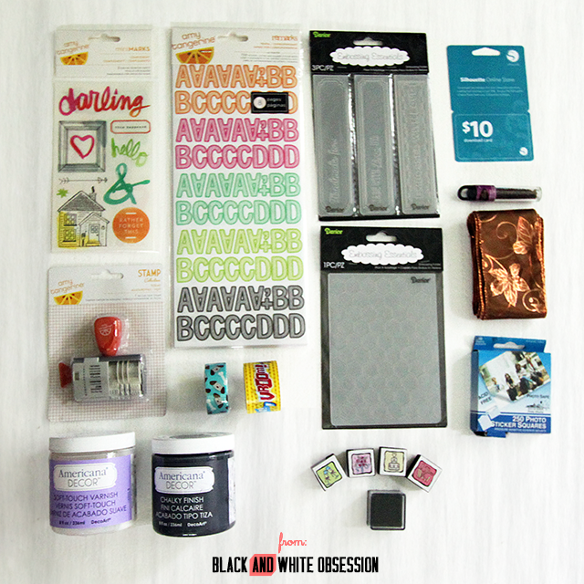The BIG Craft Giveaway, 30+ Blogs giving away amazing craft supplies. Ends 7/17 | www.blackandwhiteobsession.com #giveaway