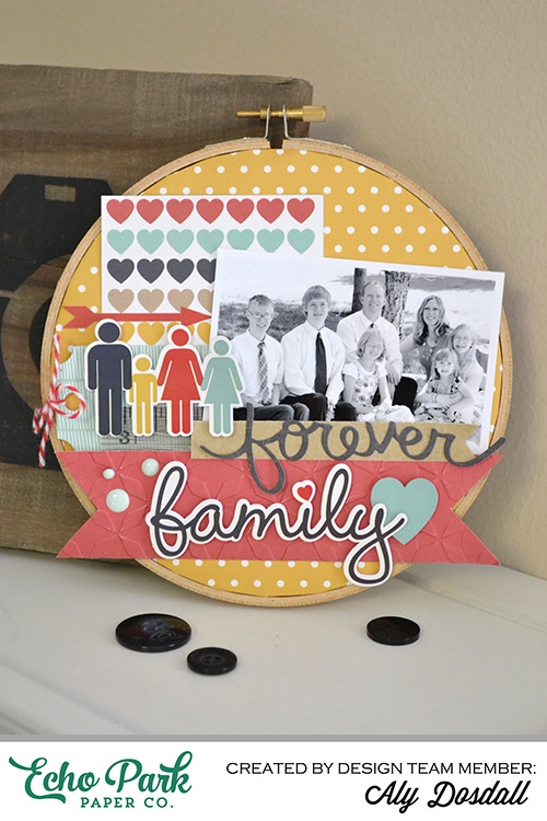 DIY embroidery hoop photo frame altered home decor echo park our family