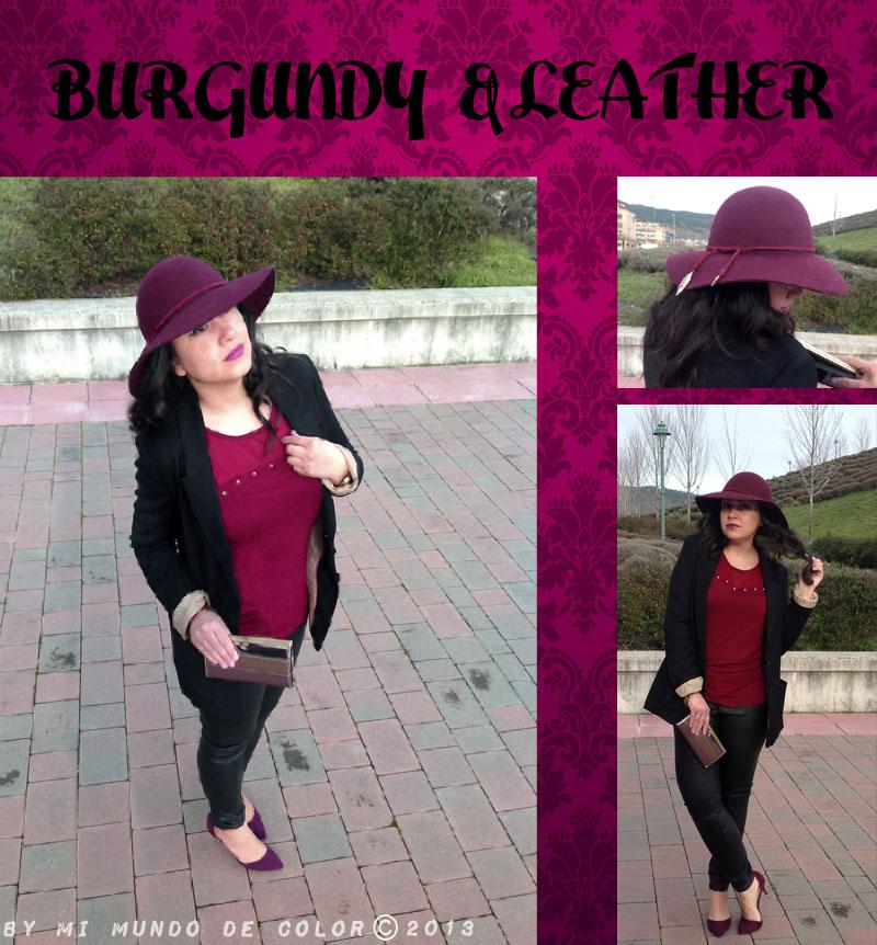 look negro, burgundy y cuero