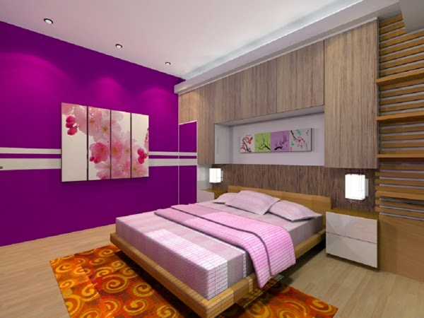 25 purple bedroom ideas curtains accessories and paint for Purple colour bedroom