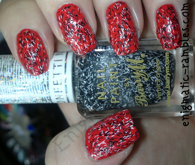 swatch-barry-m-liquorice-confetti-nail-effect-bar-glitter-feather-enigmatic-rambles