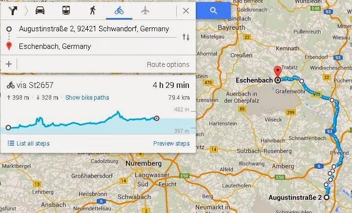 Radfahren von Eschenbach nach Schwandorf