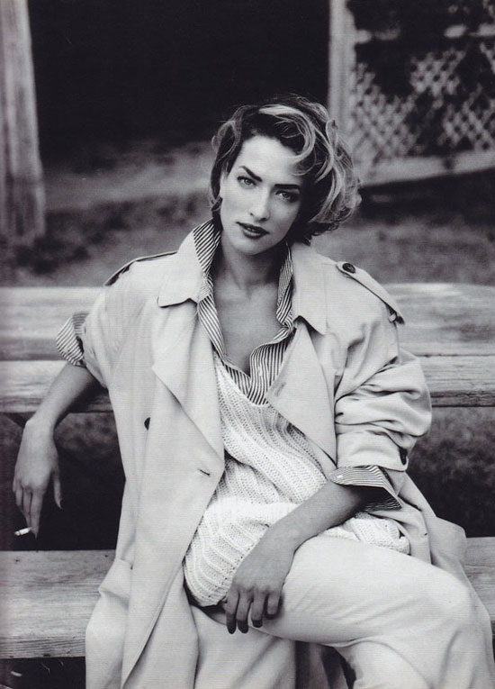 Tatjana Patitz photographed by Fabrizio Ferri for Marie Claire Italia March 1992 (styling: Alessandra Corvace)