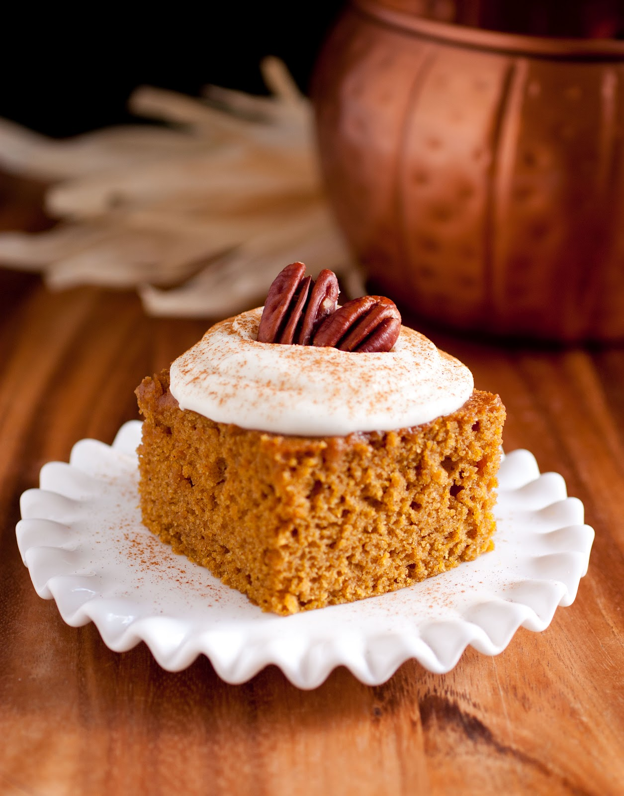 Pumpkin Cake Bars With Spice Cake Mix