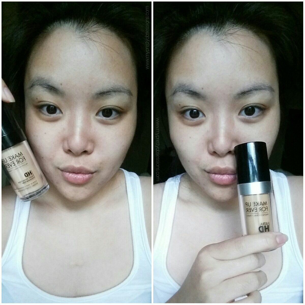 MAKE UP FOR EVER HD and Ultra HD Foundation Comparison*