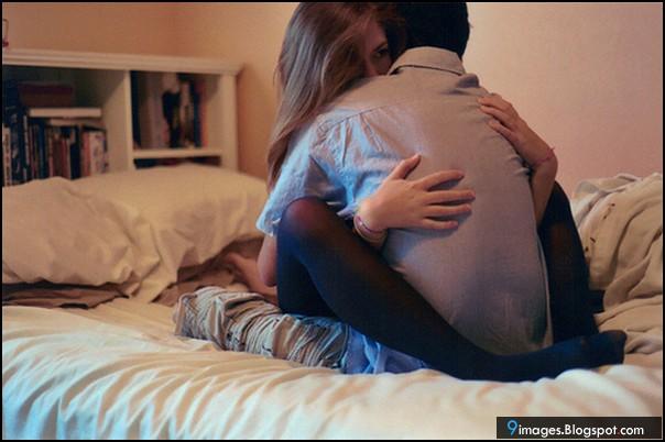 Hug Couple Love Bed Room Cute