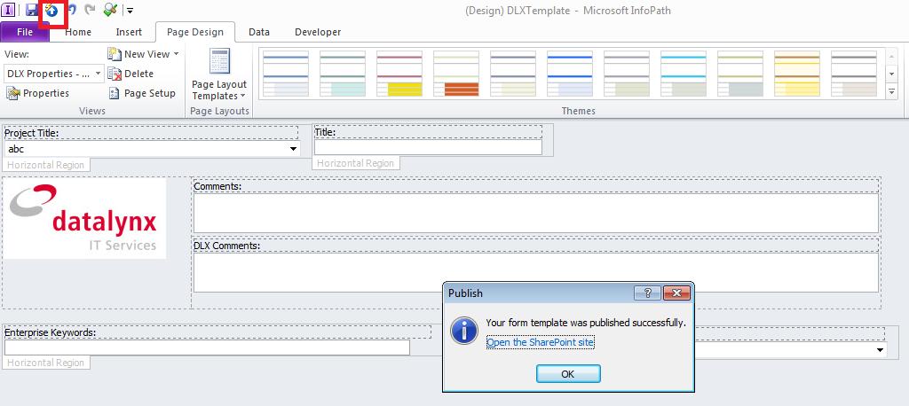 Convert a Word document to an InfoPath form template - mandegar.info