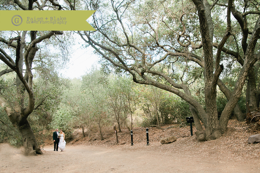 "Oak Canyon Nature Center, walking down the ""aisle"", Weddings by Paige and Blake Green Photography"