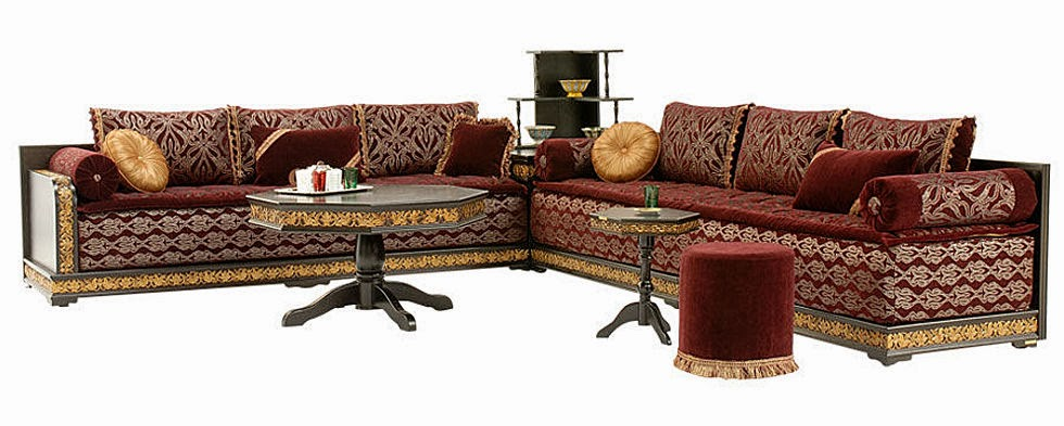 fantastique artisanat salon marocain en cuir traditionnel 2014. Black Bedroom Furniture Sets. Home Design Ideas