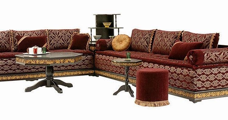 Fantastique artisanat salon marocain en cuir traditionnel 2014 - Salon marocain capitonne cuir ...