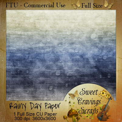 Free scrapbook Rainy day Papers from Sweet Cravings- Commercial Use