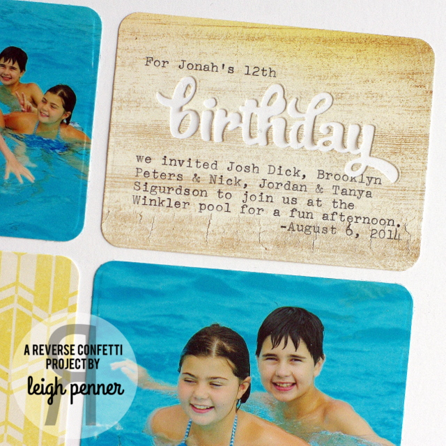 Countdown to Confetti: Monkey Business & Party Hats Leigh Penner @reverseconfetti #reverseconfetti #scrapbookinglayouts