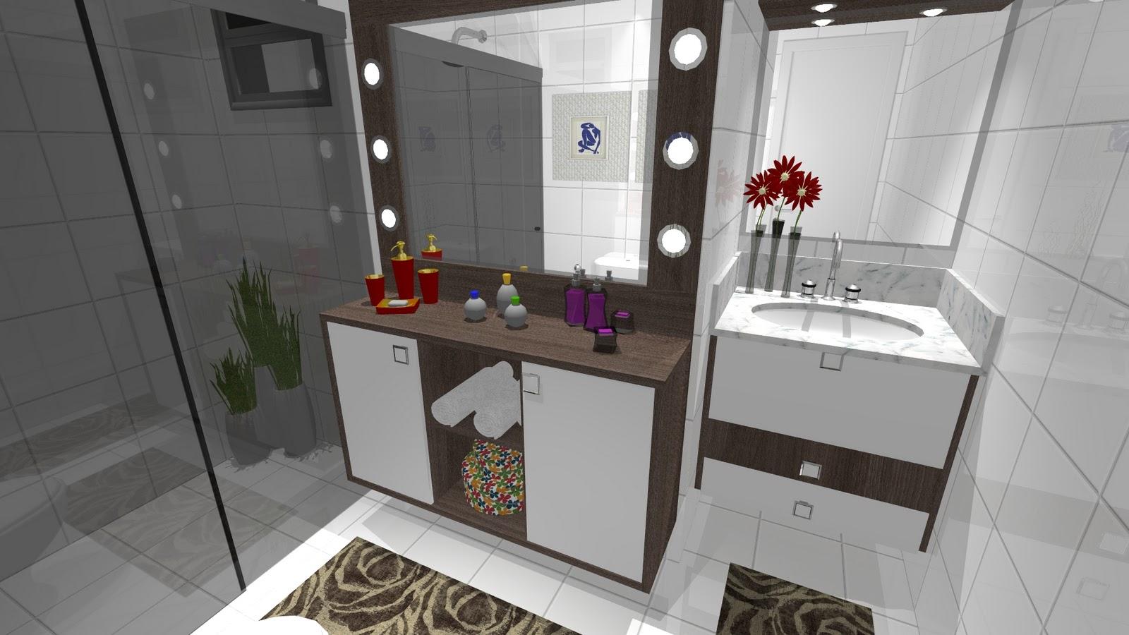 #672863 Ambientes & Ideias: Um Banheiro Um camarim! 1600x900 px repaginar banheiro antigo