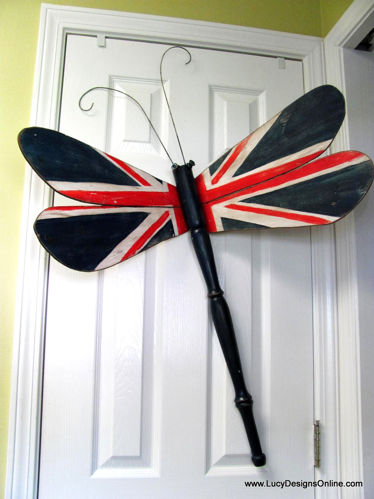 Dragonfly Art Table Leg Dragonfly Patriotic Flag