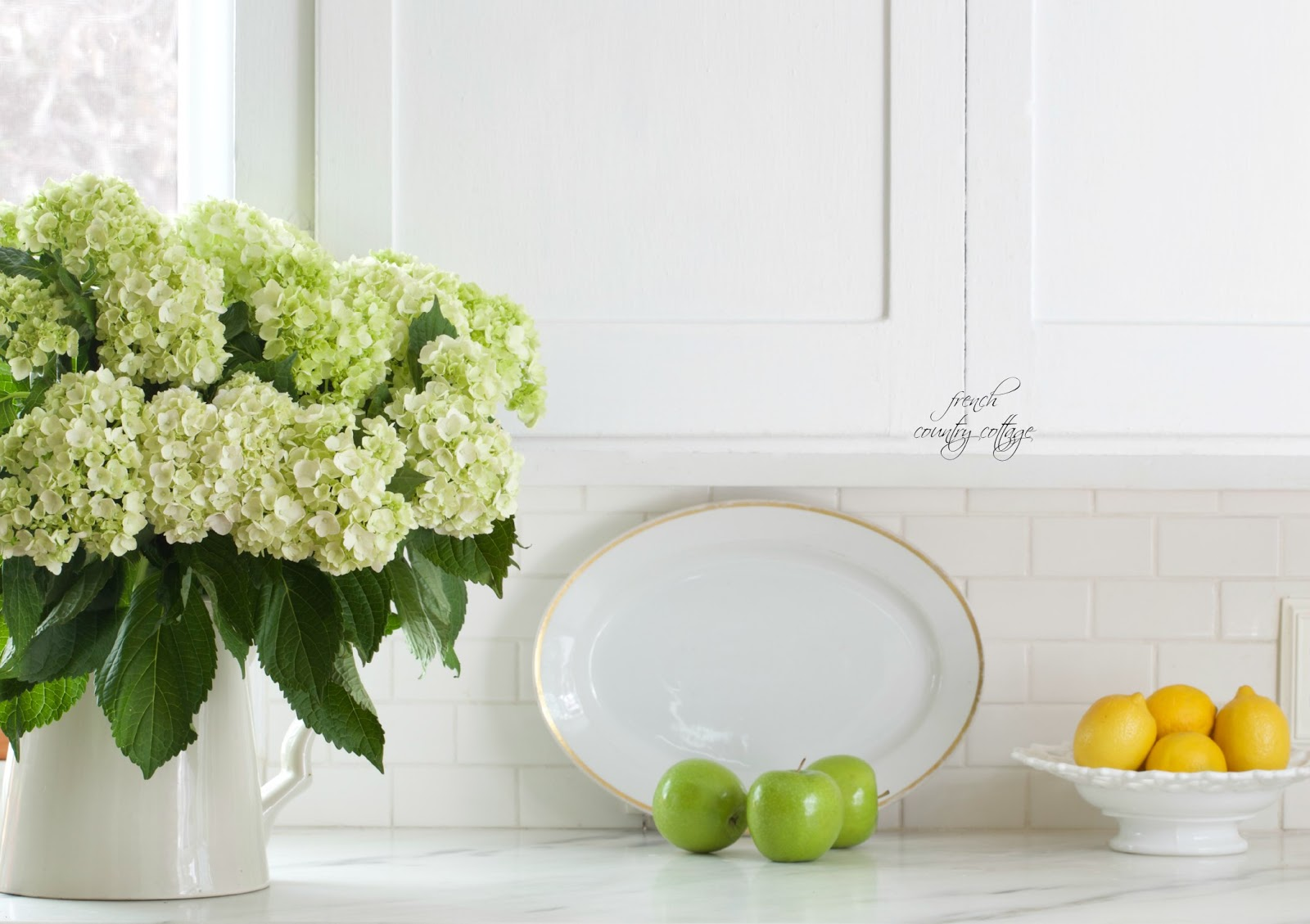 hydrangeas, fresh, kitchen, sink, alum
