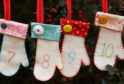 Luvinhas de feltro para o natal