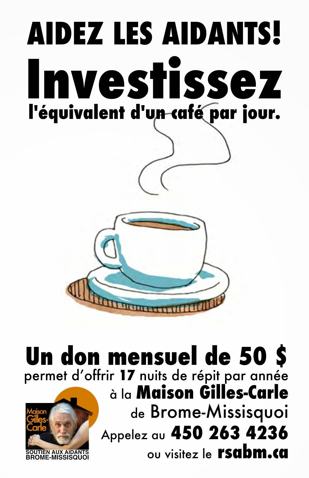 Investissez l&#39;équivalent <br>d&#39;un café par jour