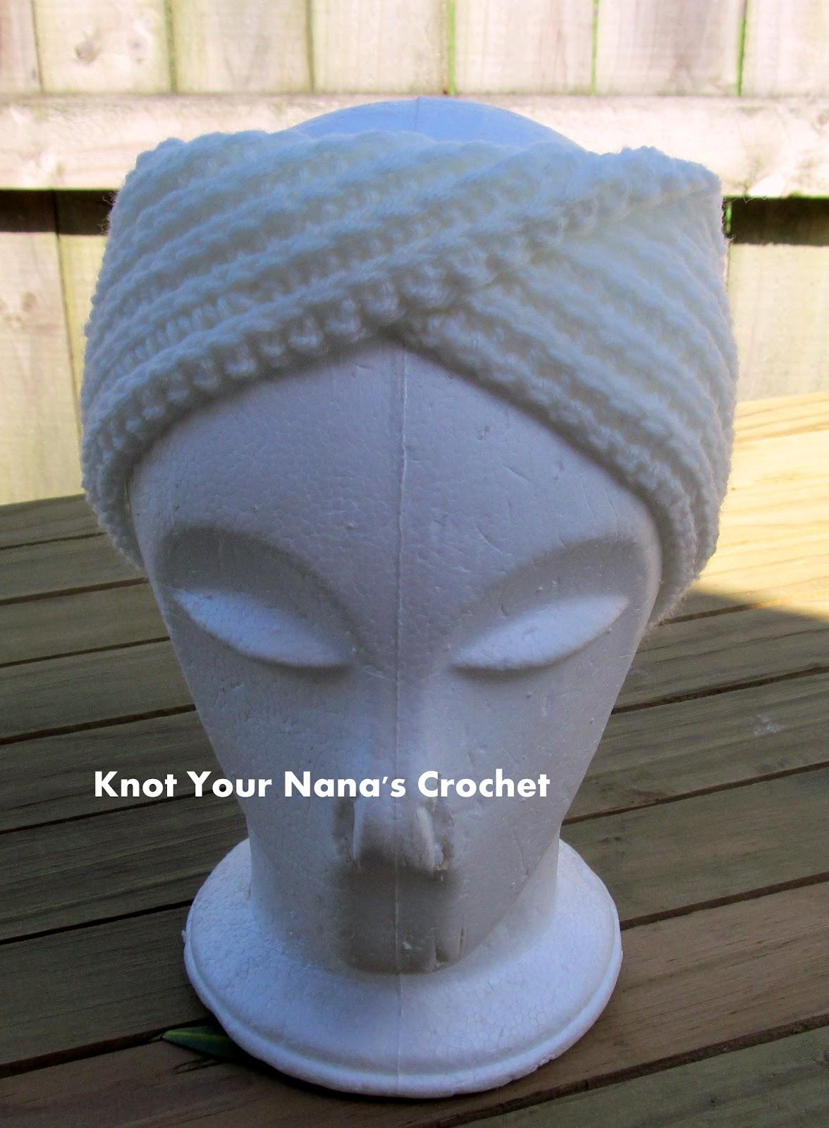 Knot Your Nana\'s Crochet: Camel Stitch Ear Warmer (knit look)