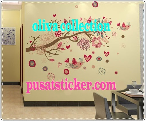wall sticker bohemia flowers - olivacollection