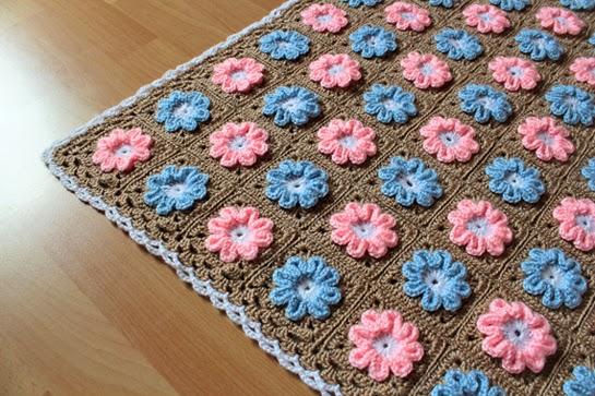 Magnificent Crochet Flower Pattern Blanket Photo Knitting Pattern