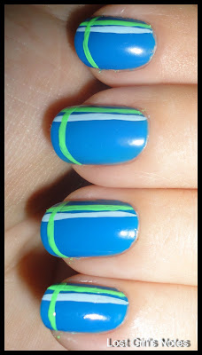 stipe mani with color club chelsea poptastic and baby blue pop