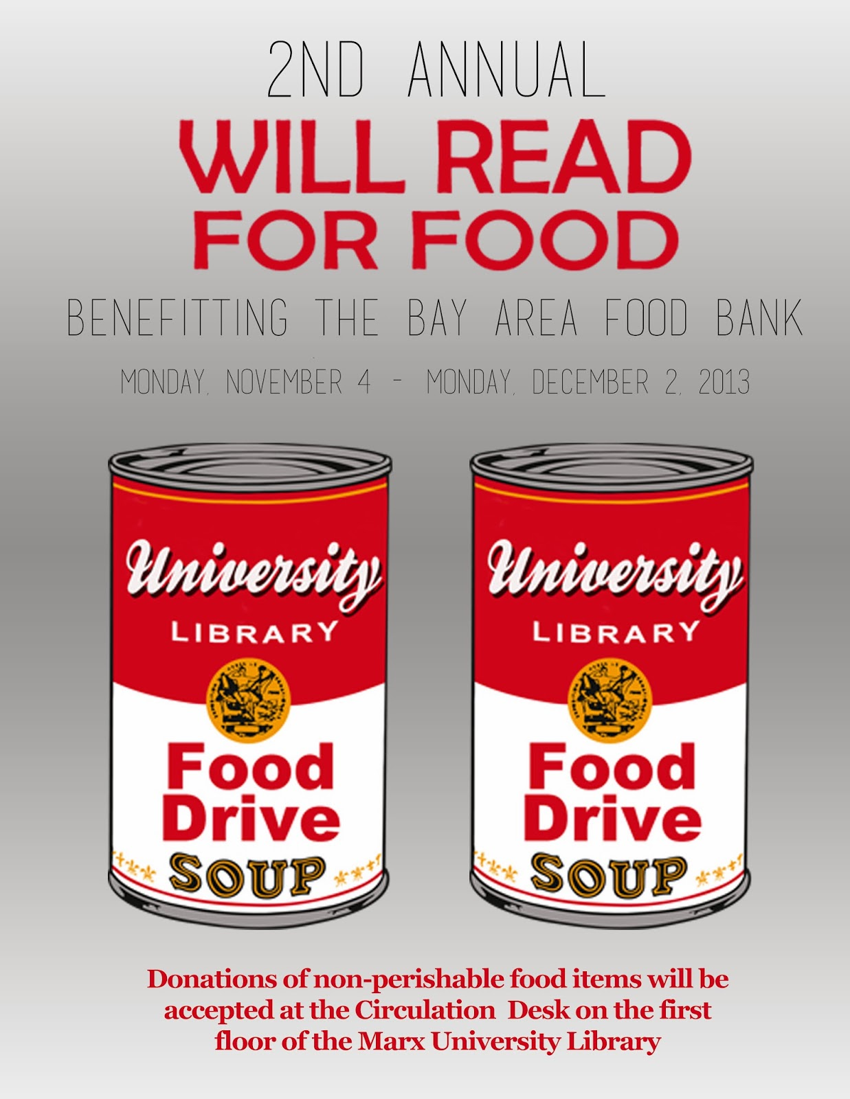 LiBLog-USA: 2nd Annual Will Read for Food Drive