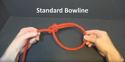 demonstration of a standard bowline
