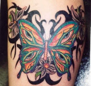 Butterfly Tribal tattoo Design