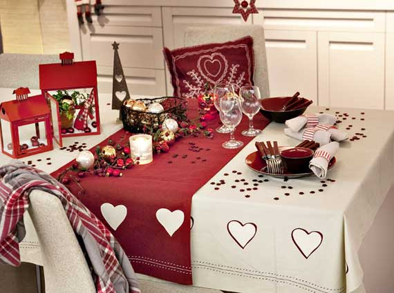 новогодний декор для стола
