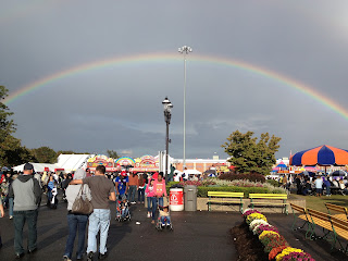Double Rainbow over fairgrounds