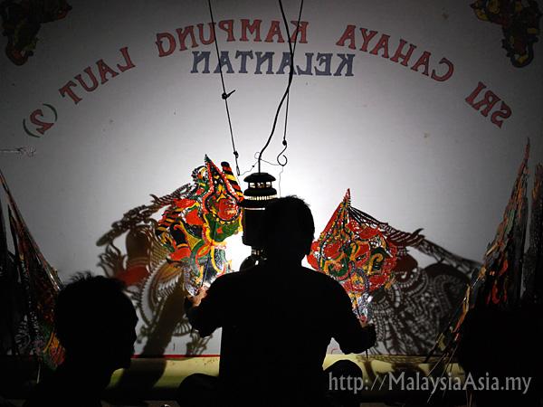 Wayang Kulit Show in Kelantan