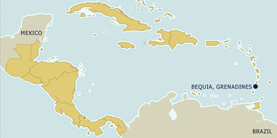 Map - Bequia, St Vincent & the Grenadines