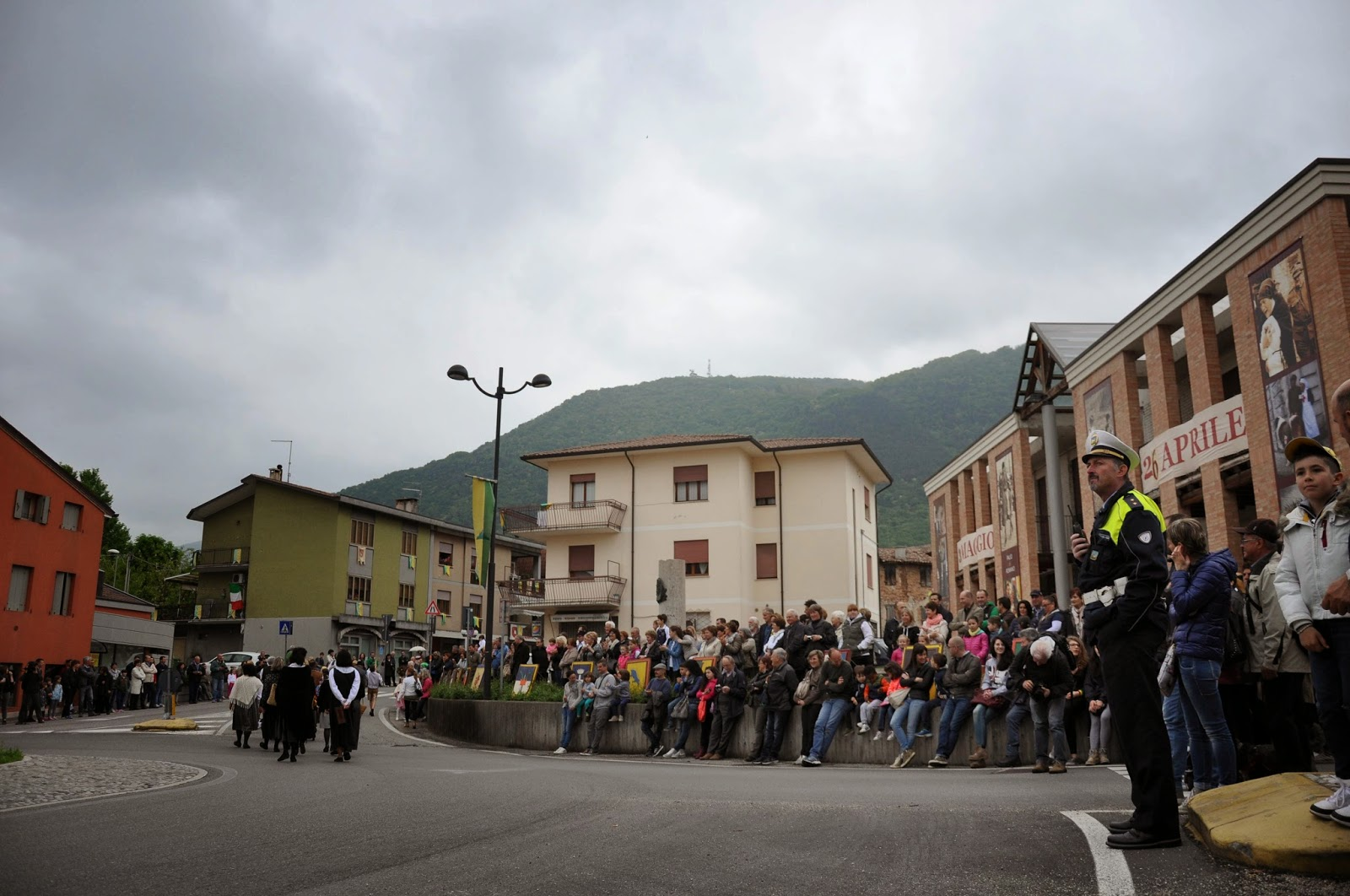 The audience at the Parade, Donkey Race, Romano d'Ezzelino, Veneto, Italy