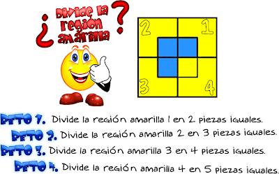 Cuadrados, Problemas para pensar, problemas de lógica, problemas de ingenio, dividir en piezas iguales