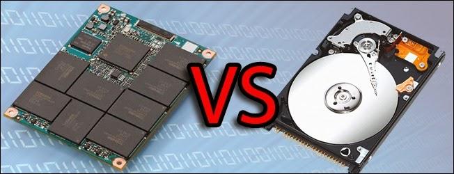 مقارنة القرص الصلب التقليدي HDD بالقرص الصلب الحديث SSD