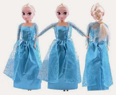 Kado ulang tahun berupa boneka frozen.