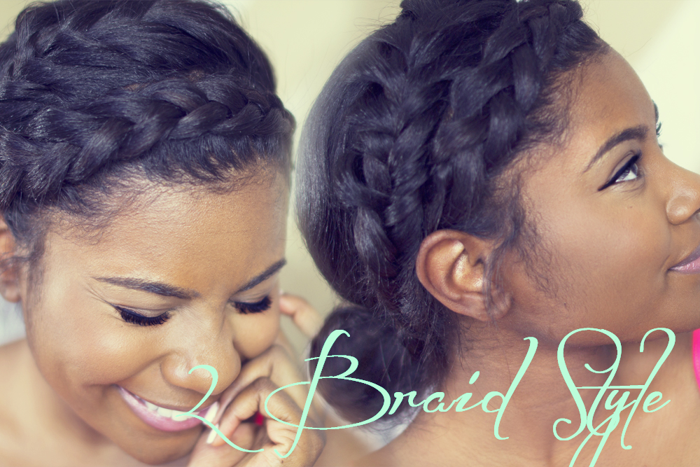 Fishtail braided hairstyles: double crown braid tutorial