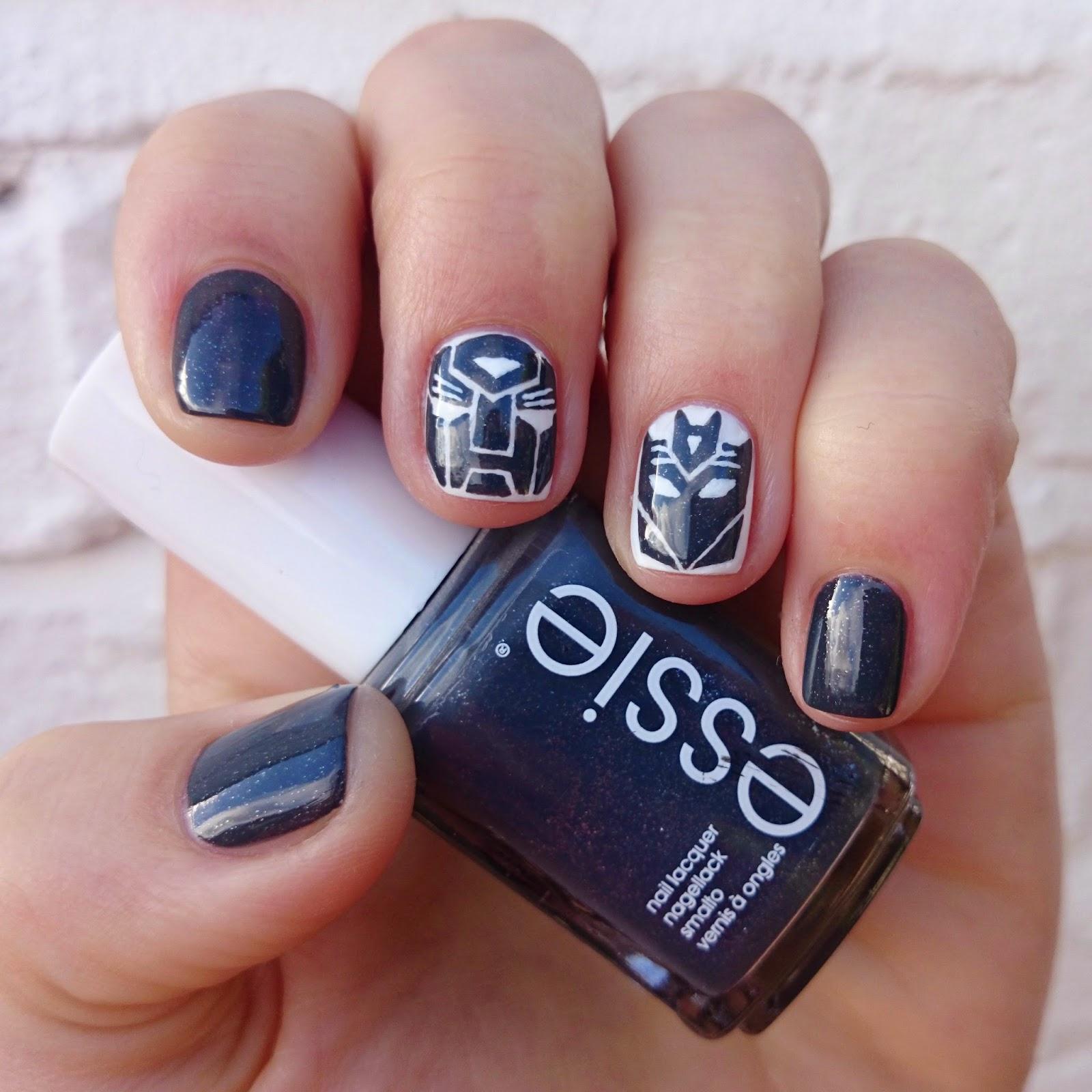 Transformers Nail Art