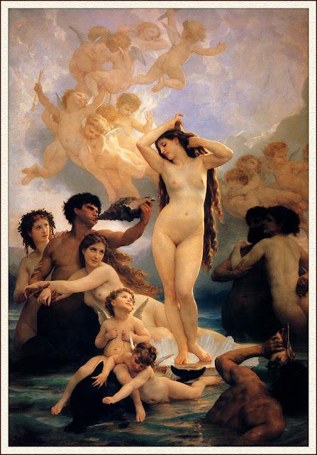 birth of venus,William Adolphe Bouguereau,Venus