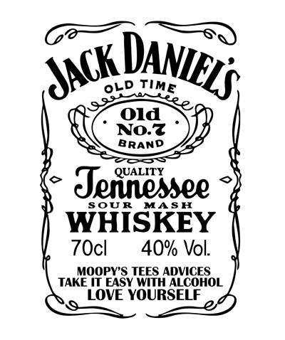 Careta Jamais!: T-Shirts Descolada Jack Daniels Logo Stencil
