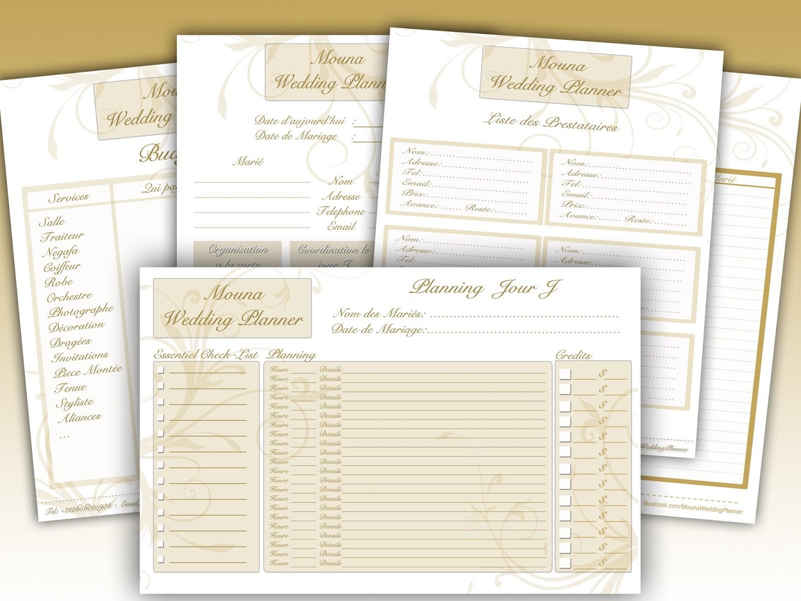Détail Liste de mariage