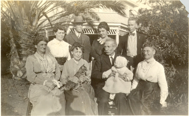 (Not So) Wordless Wednesday - Post 255: Four Generation Carringer/Auble/Smith Family Picture in 1920