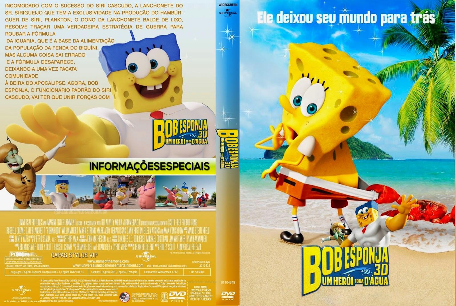 Bob Esponja Um Herói Fora D'Água DVD-R Bob 2Besponja 2B2015