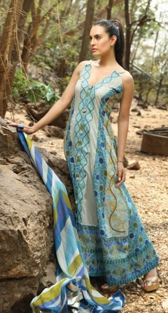 NadiaHussainLawnCollection28429 - Nadia Hussain Lawn 2013 Magazine by Shariq Textiles