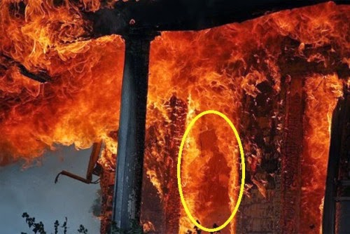 Mysterious Spirit Photographed in a Burning House?