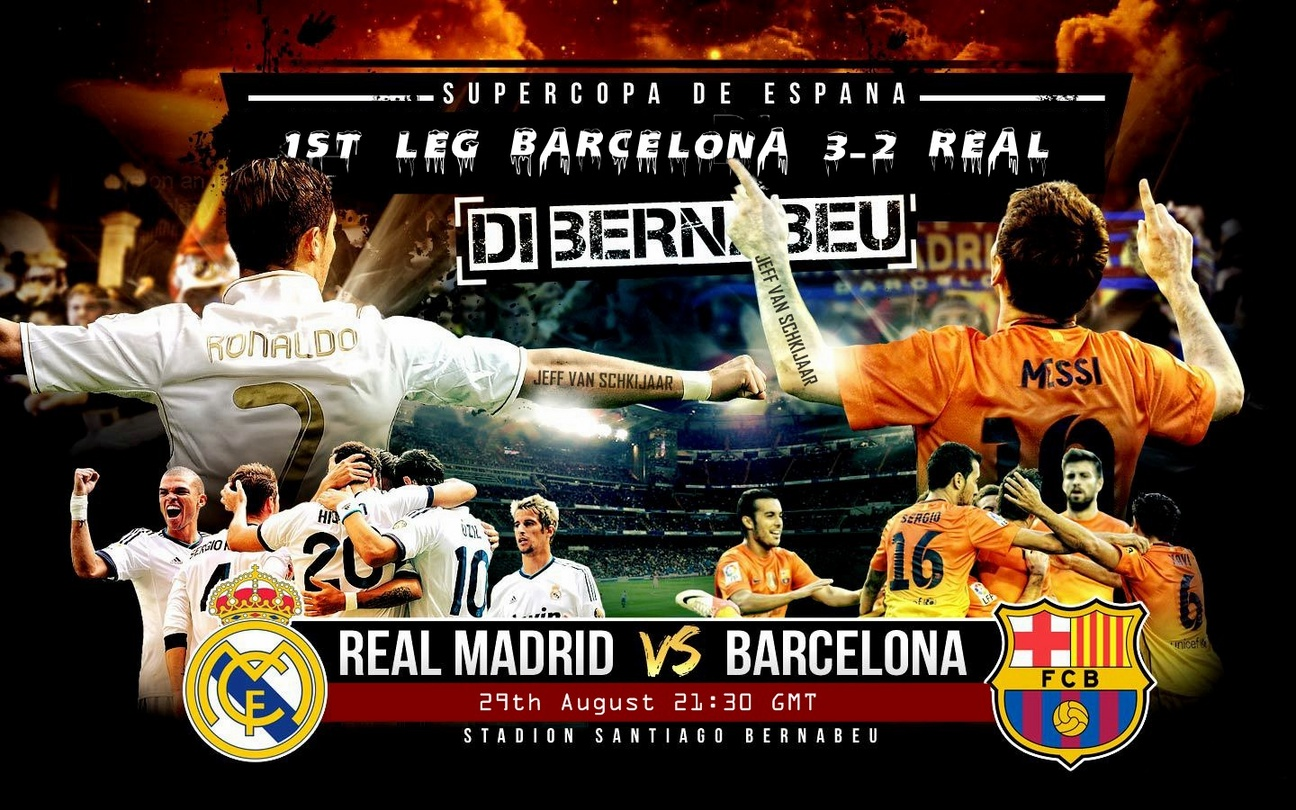 Barcelona Vs Real Madrid HD Wallpapers 2012-2013